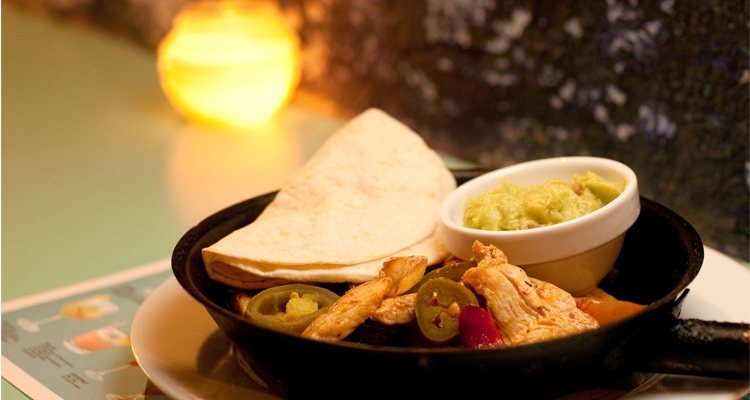 Chicken Fajitas, MARGARITA BLUE, bar/restaurant, Barcelona